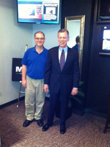Frank with Kevin Farrell, the Host of Money Talks