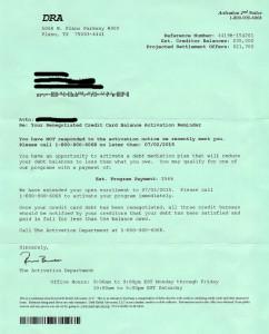 DRA Letter
